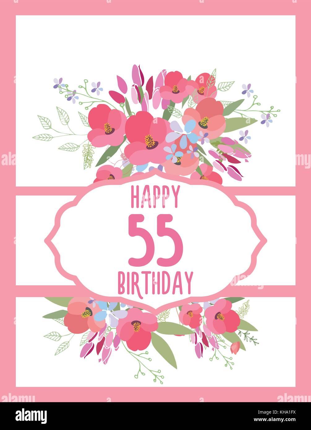 Greeting Card For Anniversary Birthday Stock Vector Art