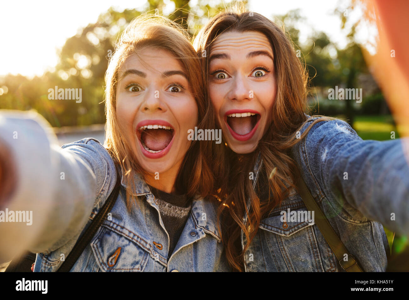 Young teen girl excited
