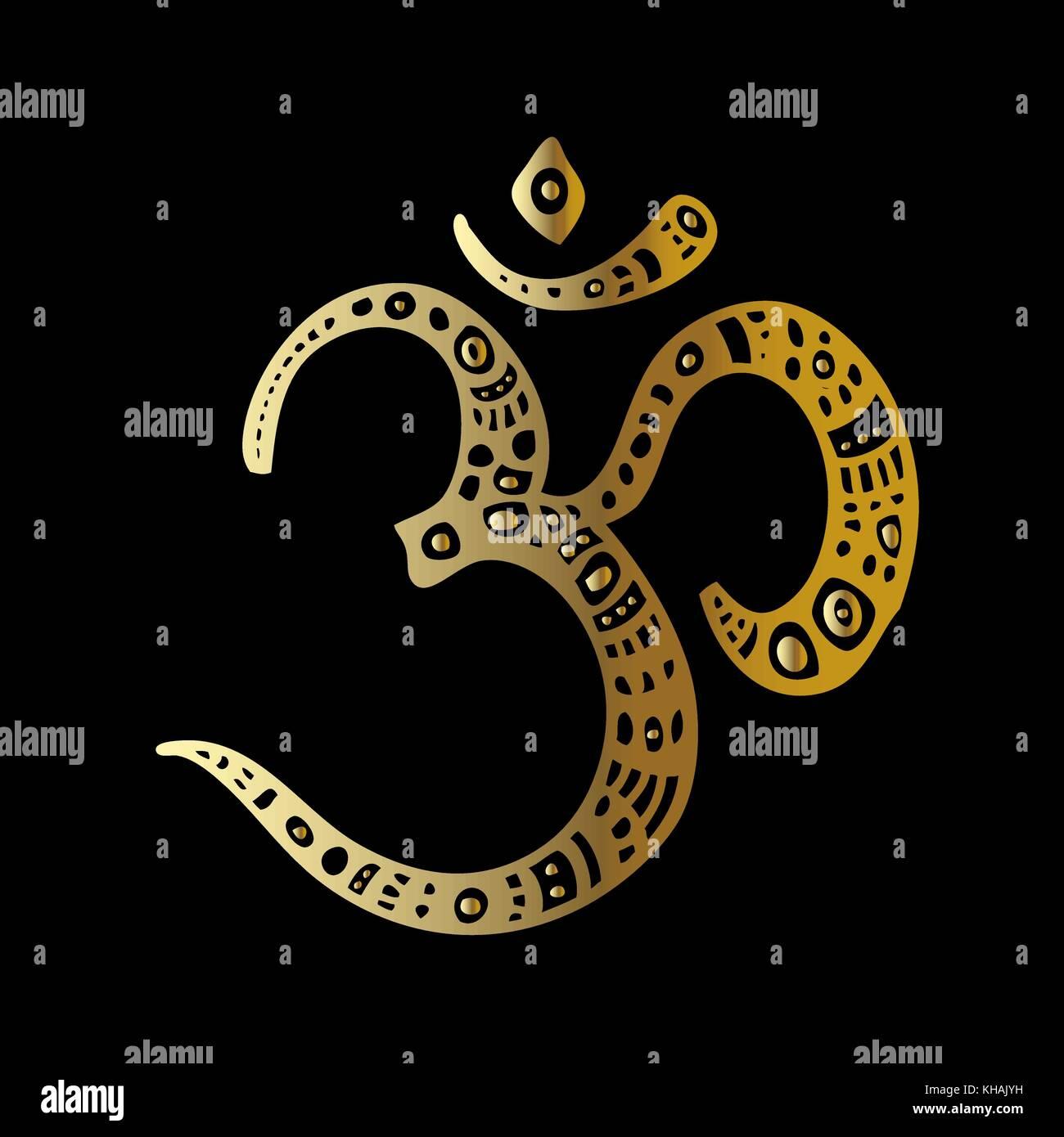 Om symbol aum ohm stock vector art illustration vector image om symbol aum ohm buycottarizona Image collections