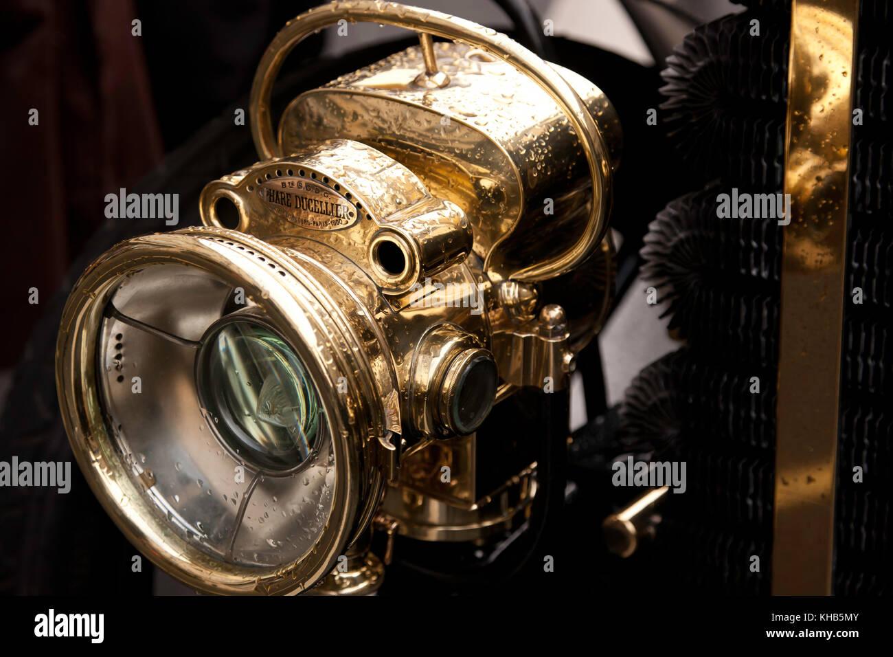 Carbide Car Headlights : Brass headlamp stock photos images