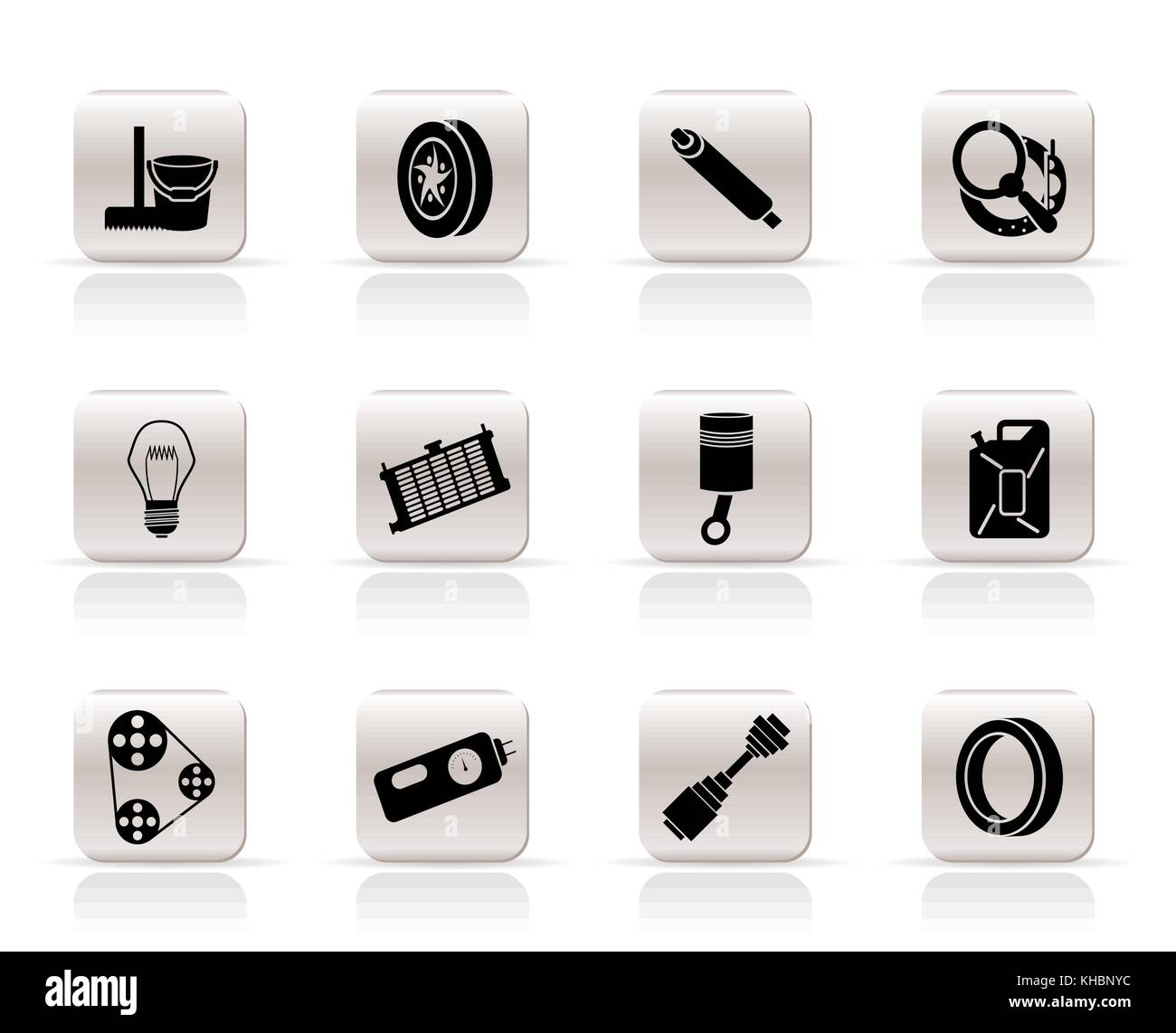 Simple Car Parts and Services icons - Vector Icon Set 2 Stock Vector ...
