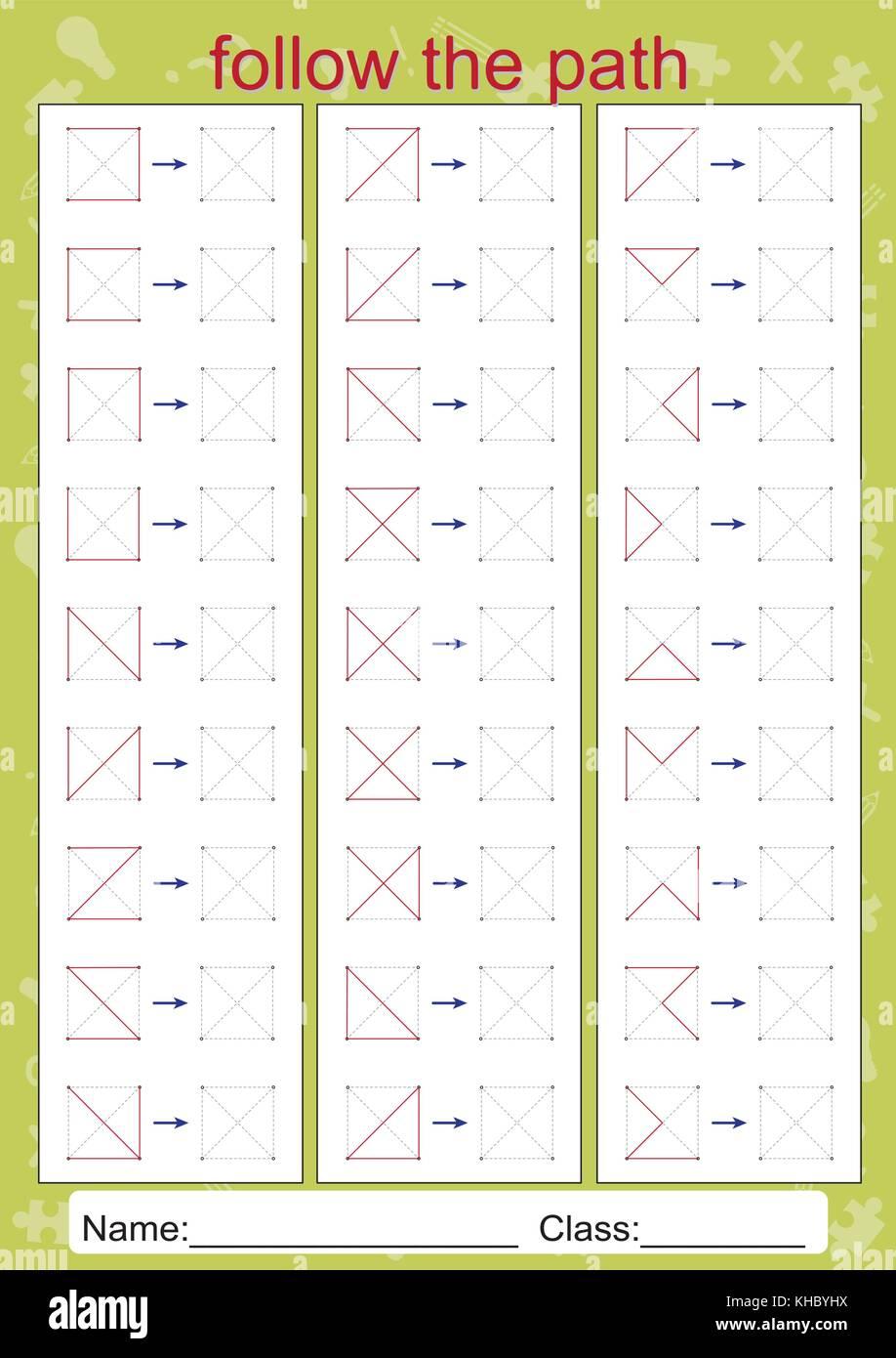 Worksheets Visual Perceptual Worksheets visual perceptual worksheets follow the path copy pattern stock pattern