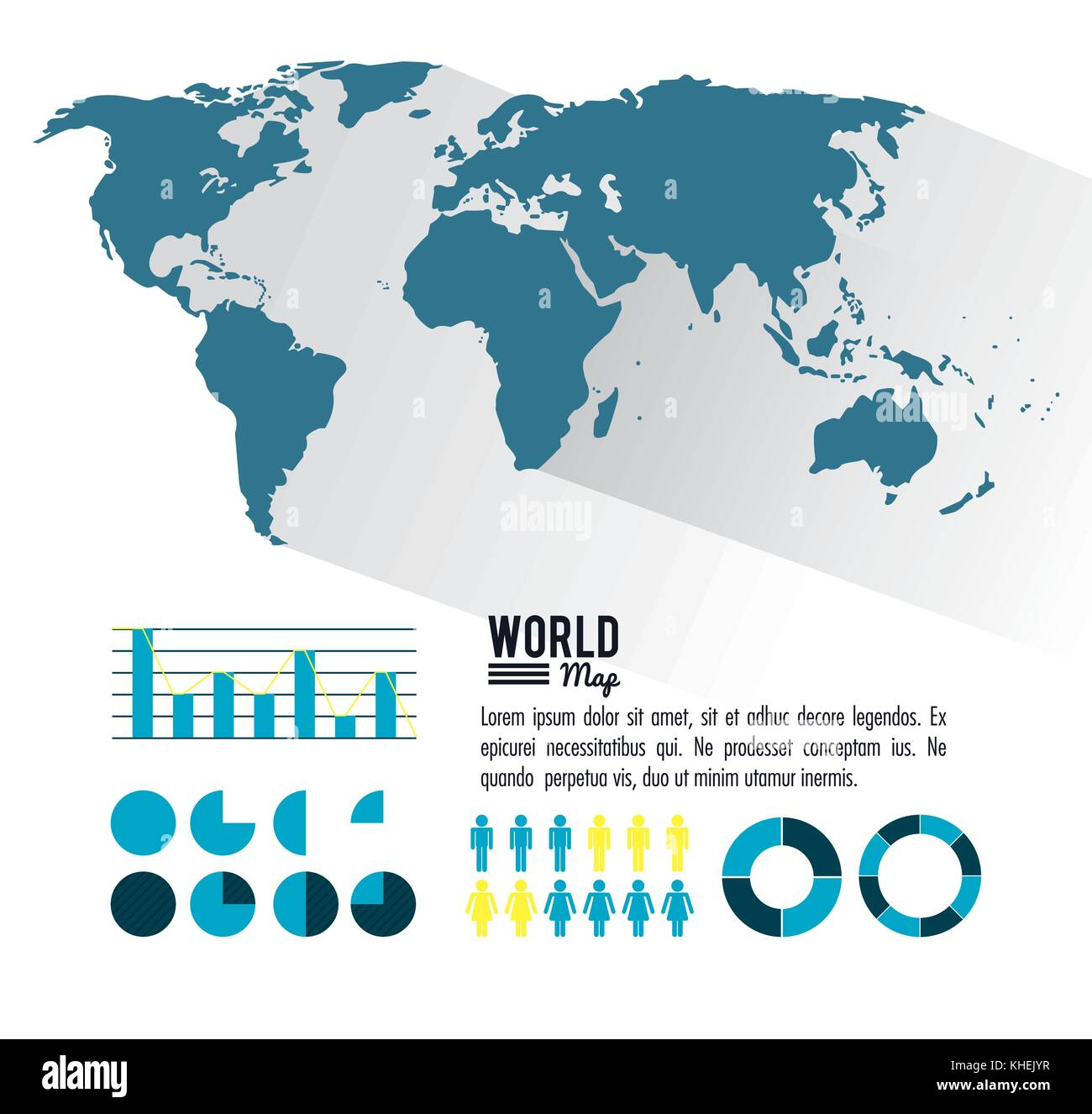 World Circle Graph Stock Photos & World Circle Graph Stock ...