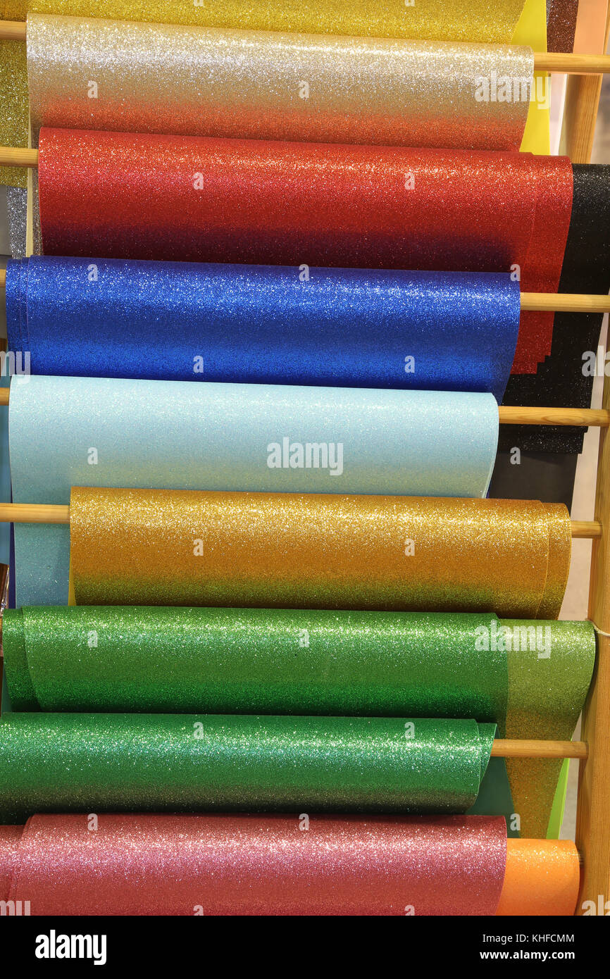 so many colorful glitter sheets to prepare custom decorations for ...