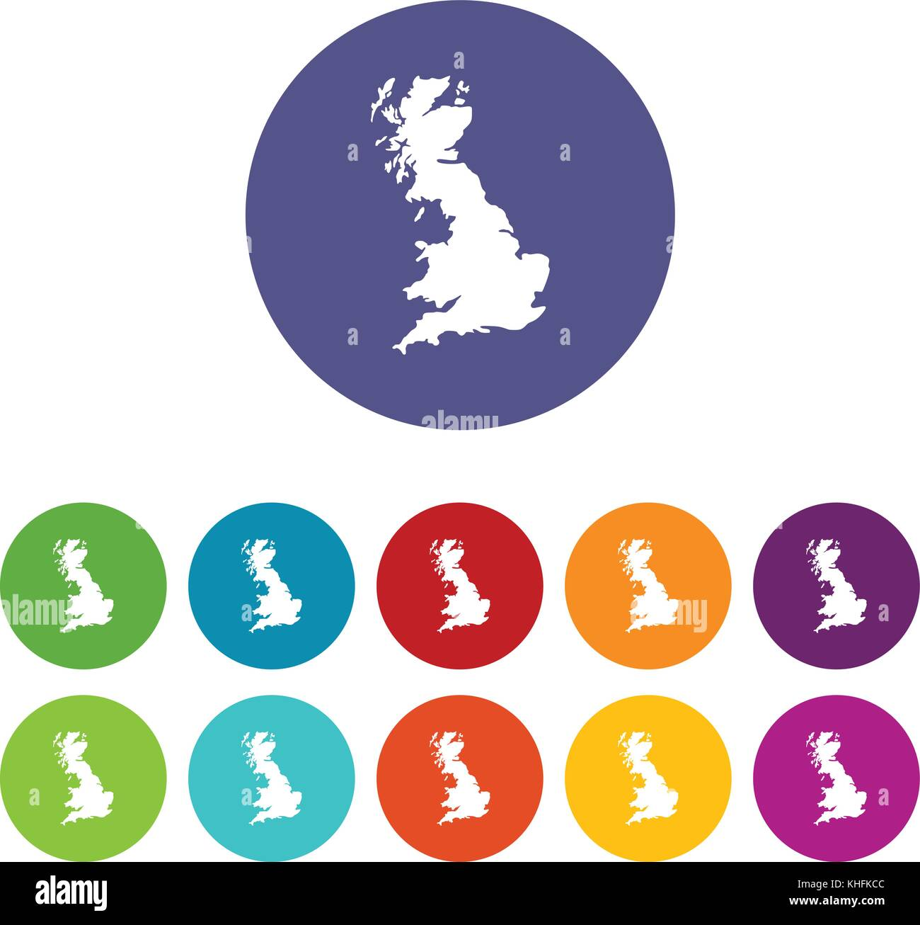 map of great britain set icons stock vector art illustration