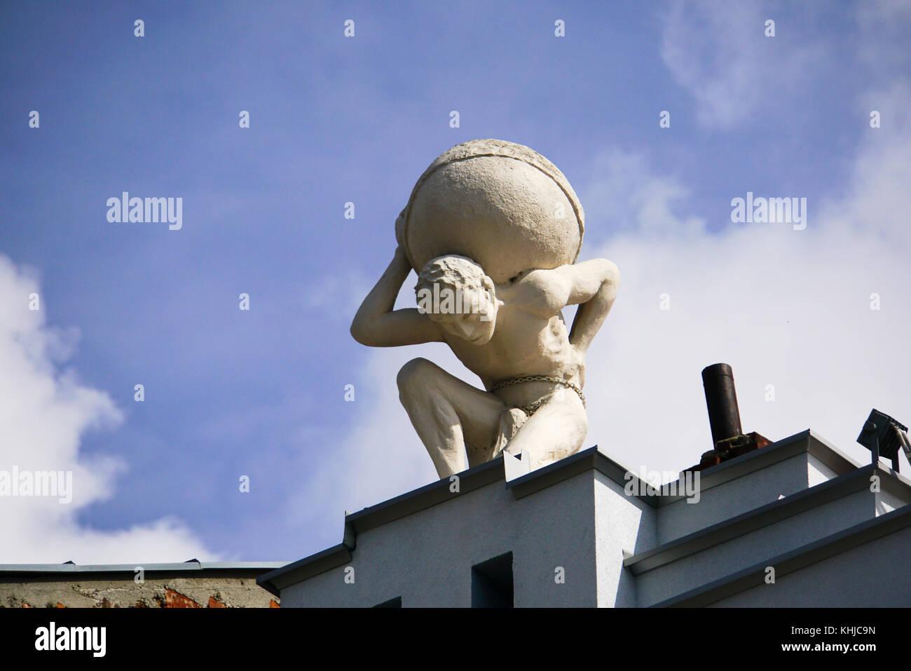 Atlas Sculpture Old Building In Stock Photos & Atlas