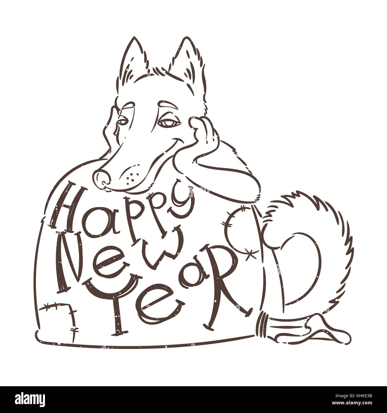 Yellow dog for new year 2018 cute symbol of horoscope cute puppy yellow dog for new year 2018 cute symbol of horoscope cute puppy in cartoon biocorpaavc