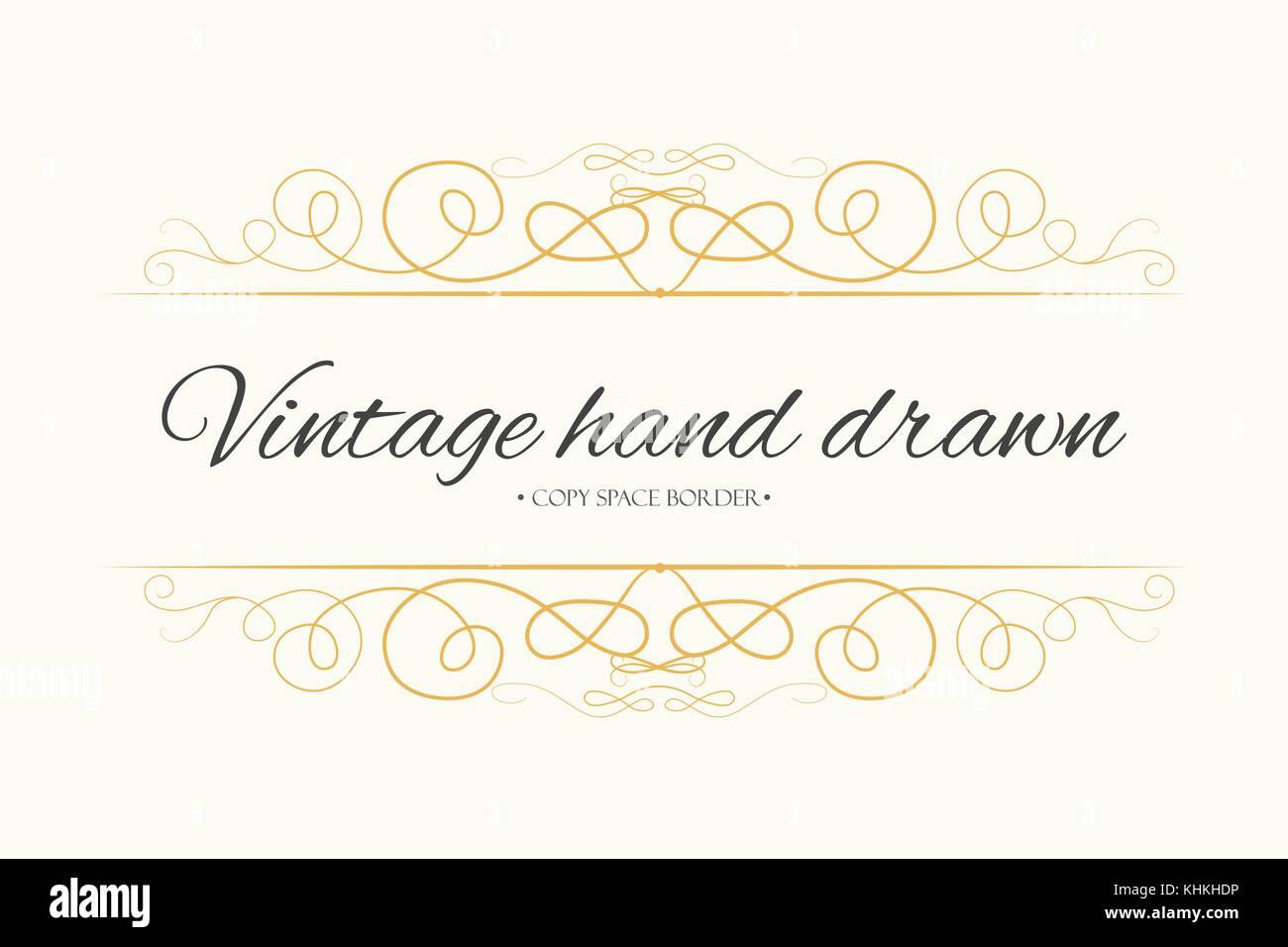 Vector hand drawn flourishes, text divider, graphic design element ...