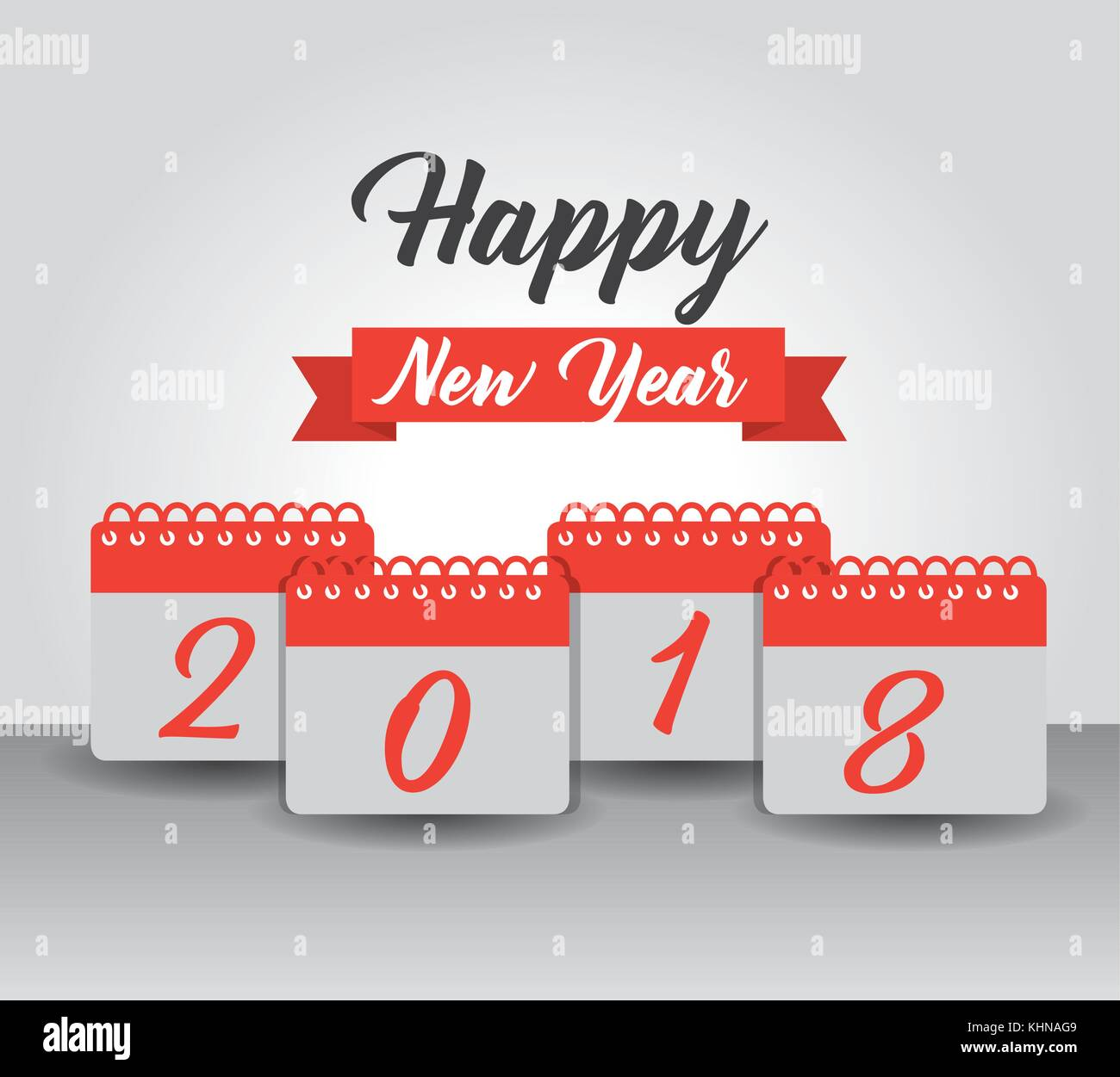 happy new year 2018 calendar numbers banner design celebration stock vector art illustration vector image 165811753 alamy