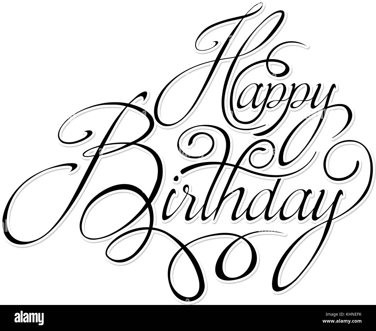 black text happy birthday stock vector art illustration vector