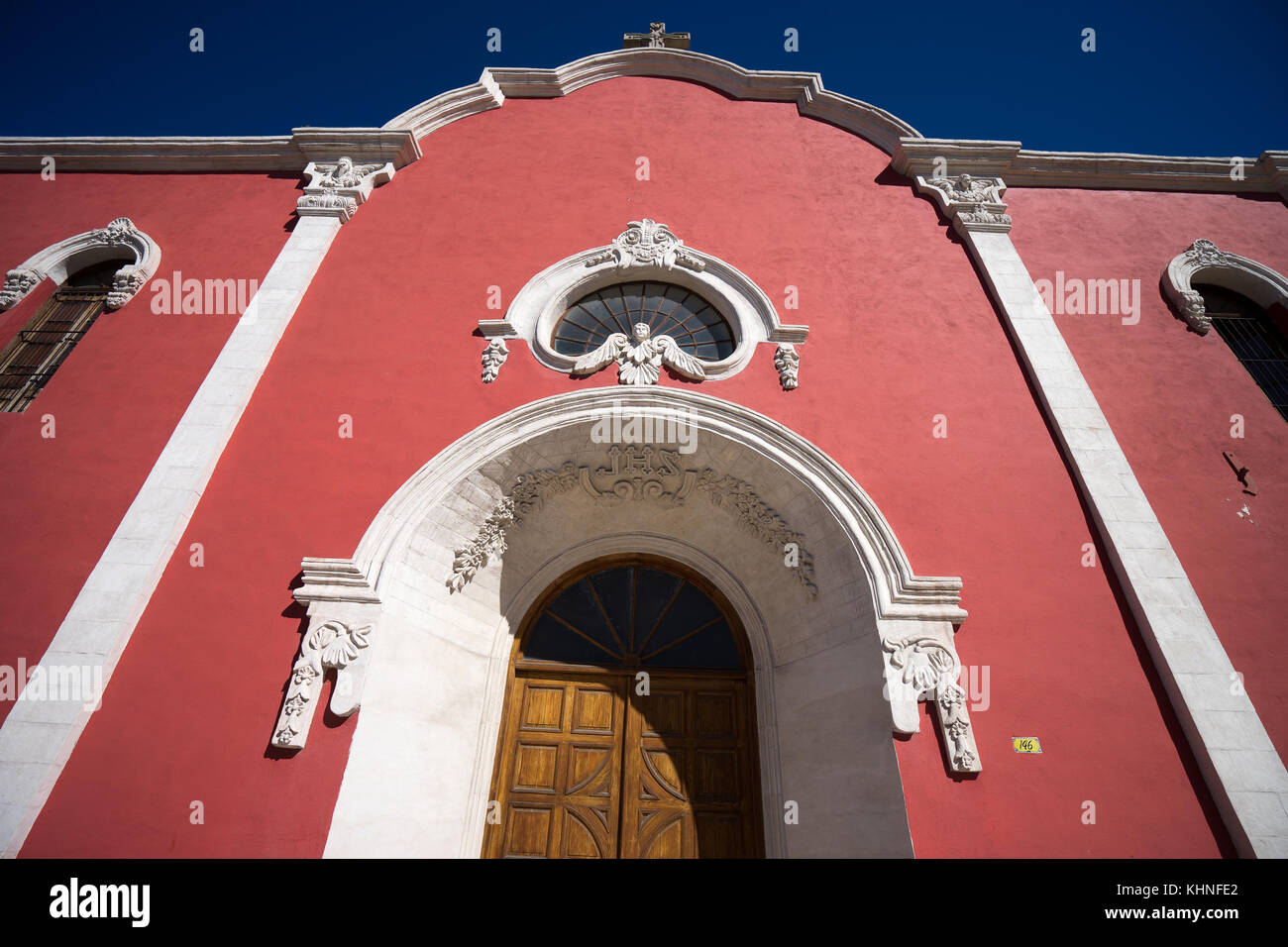 Colonial Architecture Of A Mexican Church In Saltillo