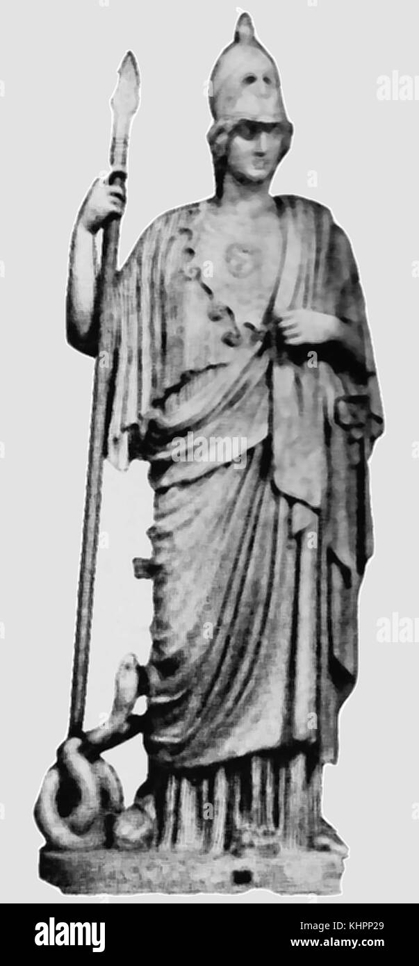 In greek mythology athena was the goddess of war stock photos in a 1920s image of a reproduction bronze statue of athena goddess of wisdom craft biocorpaavc