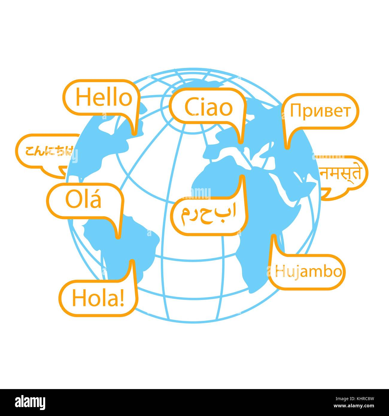 Concept Of Communication In Different Languages In The Form Of Earth