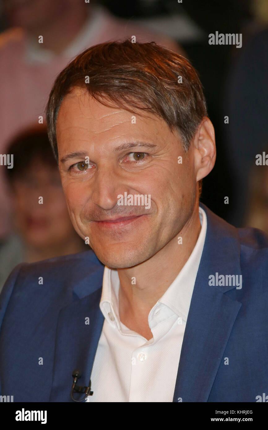 Rolf Hamburg markus lanz talkshow in hamburg featuring rolf dobelli stock photo
