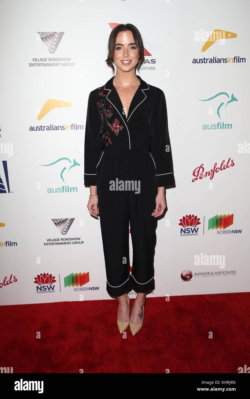 Ashleigh brewer australians in film awards benefit dinner in los angeles