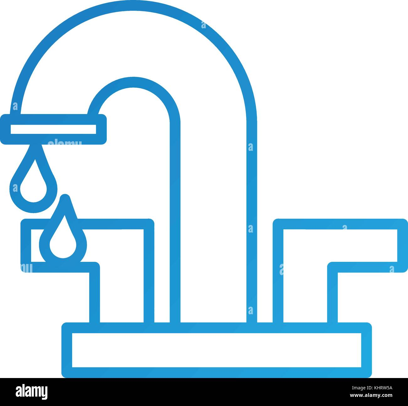 water faucet with drop bathroom icon vector illustration Stock ...
