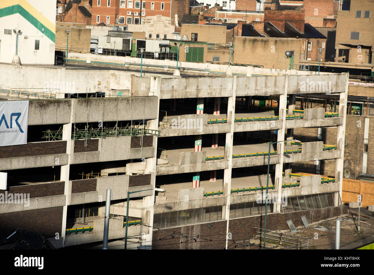 Broadmarsh Car Park Nottingham Demolition