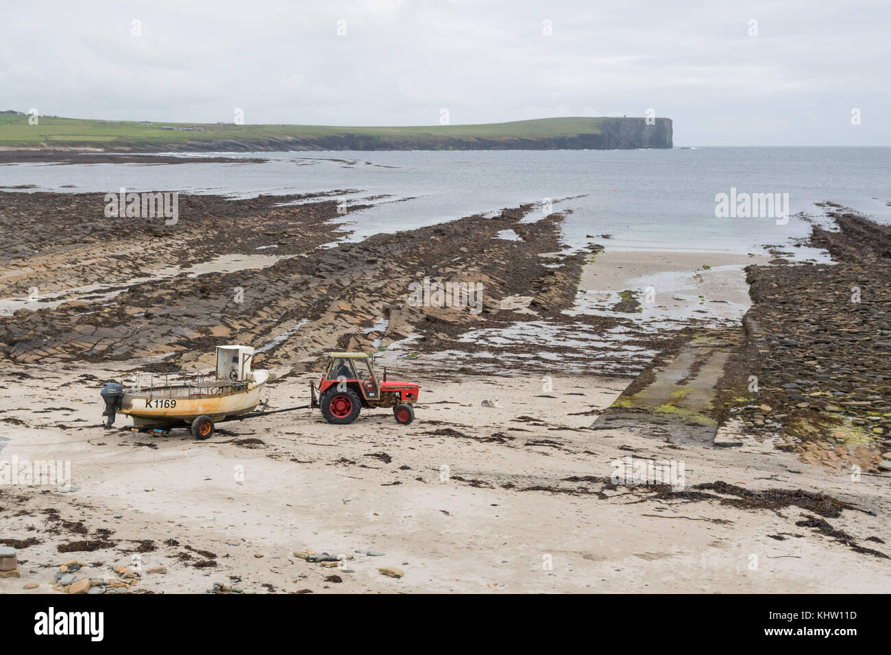 Tractor Pull Boats : Boat tractor stock photos images alamy
