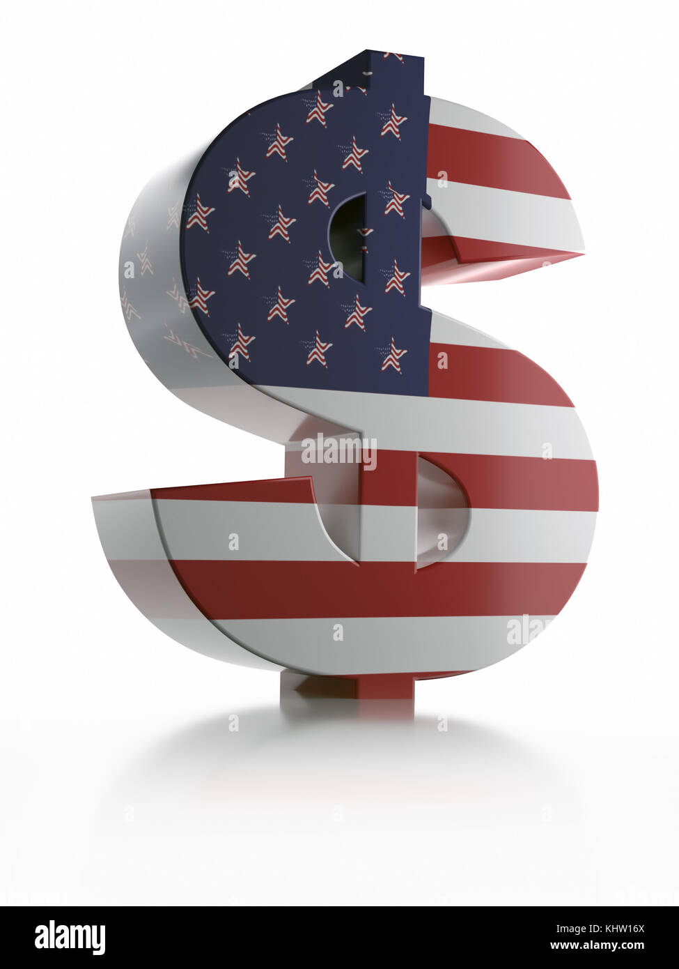 3d Rendering Of Usd Currency Symbol Wrapped Around With American