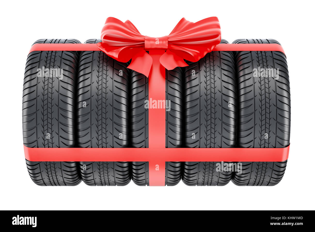 Discount tire stock photos discount tire stock images alamy tires wrapped ribbon and bow gift concept 3d rendering isolated on white background buycottarizona