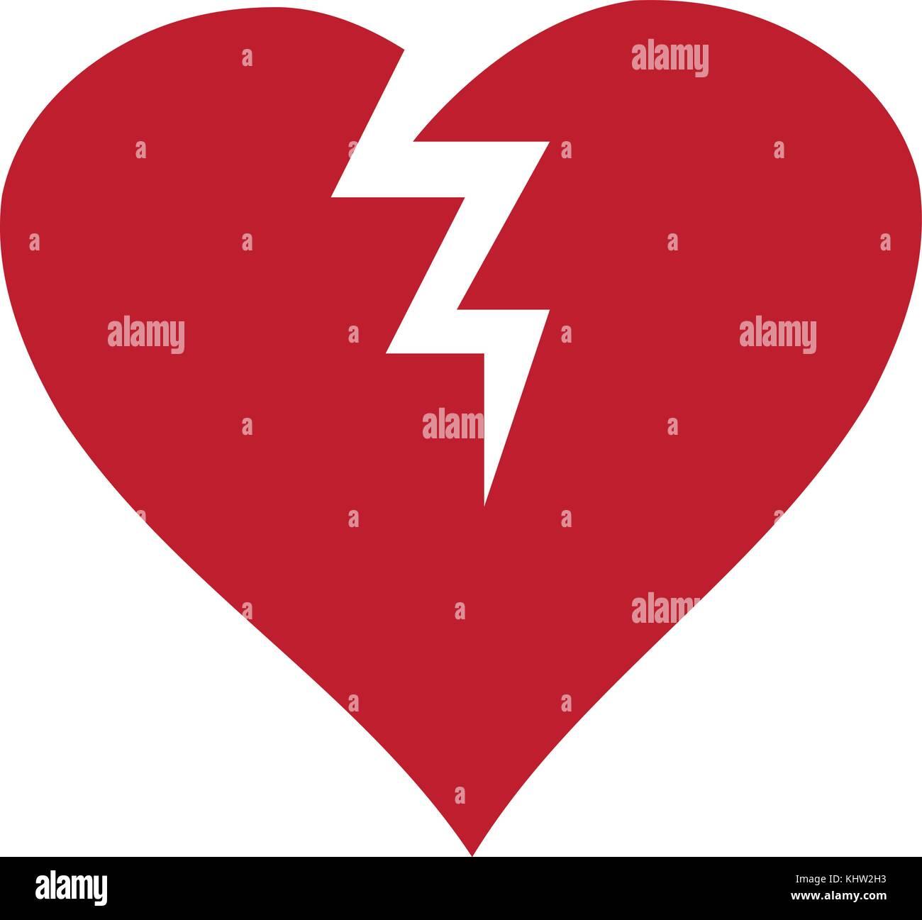 Vector illustration of a broken heart icon symbol isolated on vector illustration of a broken heart icon symbol isolated on white background flat icon love symbol buycottarizona