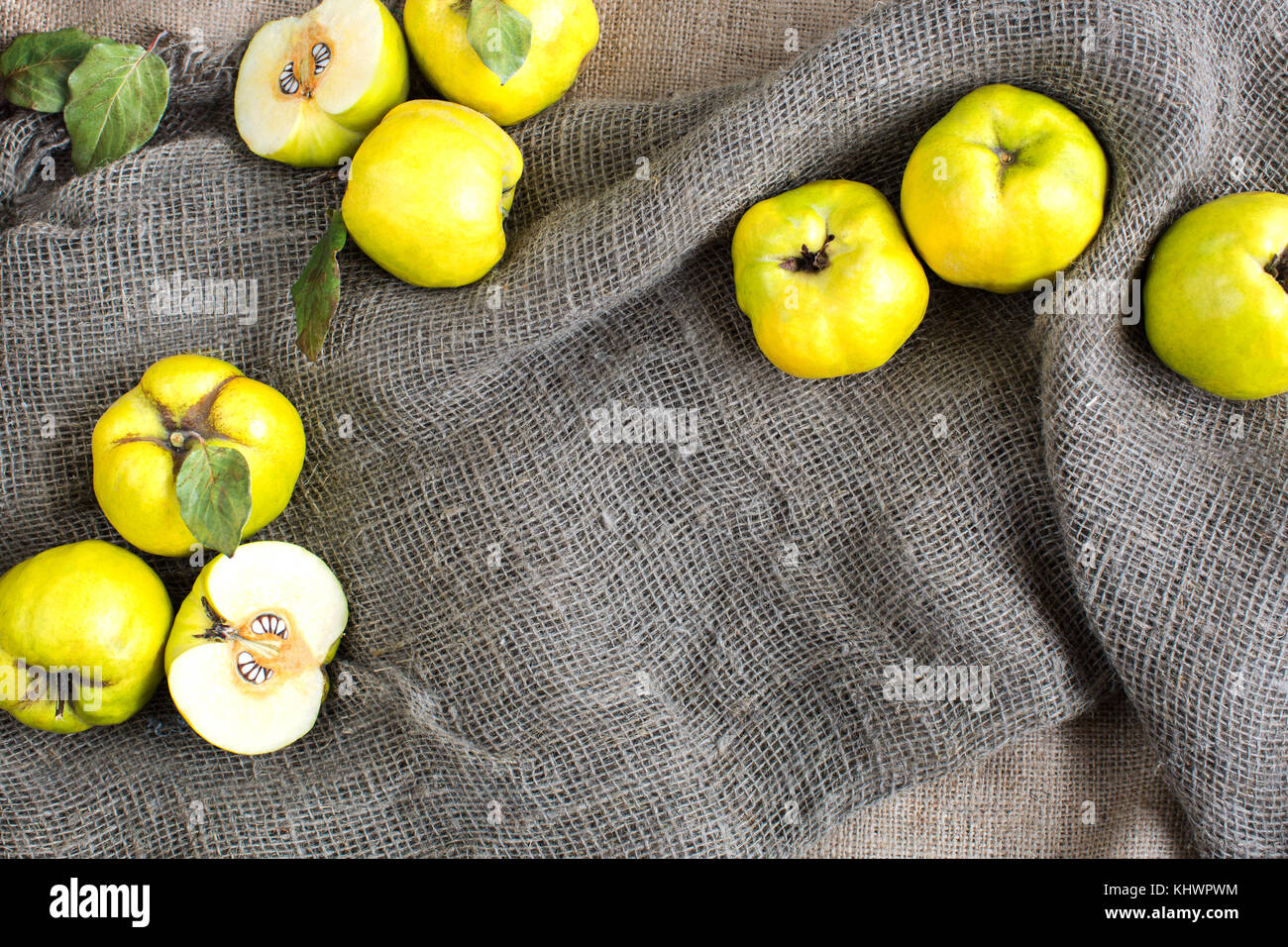 Quince stock photos quince stock images alamy fall healthy lifestyle presents concept fresh fruit crops consisted of sunny yellow quinces biocorpaavc Image collections