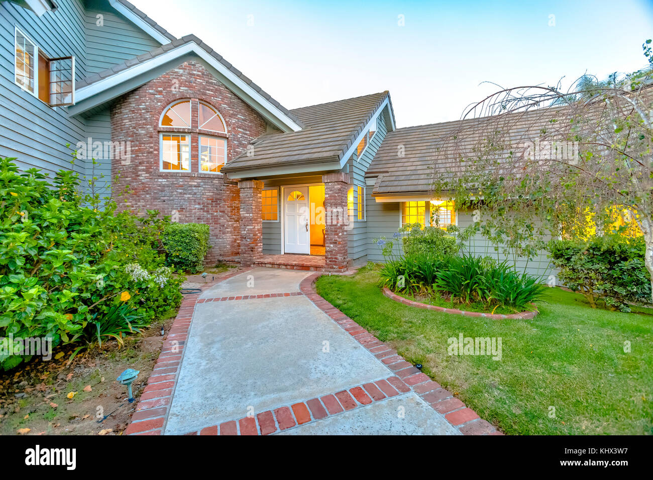 Brick And Stone Entry Of Luxury Home In San Diego . Wonderful California  Home In San Diego County. Real Estate Listings With Powerful Visuals.