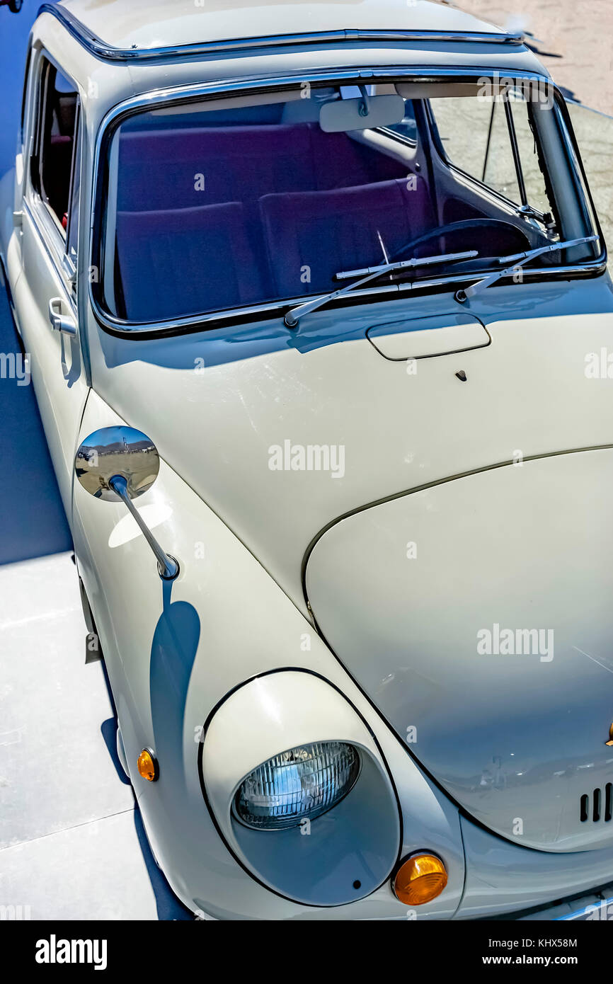 Old style compact car with vintage features. Custom cars in ...