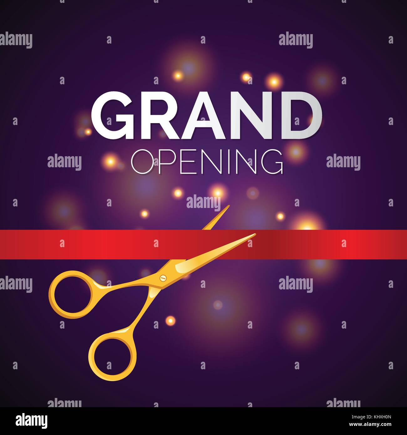 grand opening template modern vector illustration on festive stock