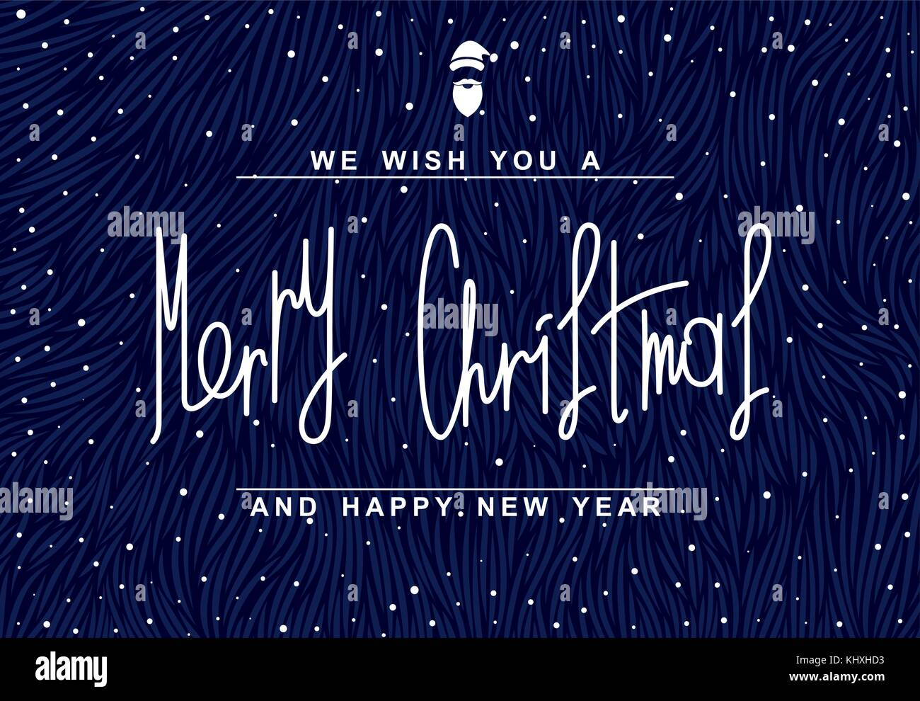 we wish you a merry christmas and happy new year 2018 festive flyer vector illustration