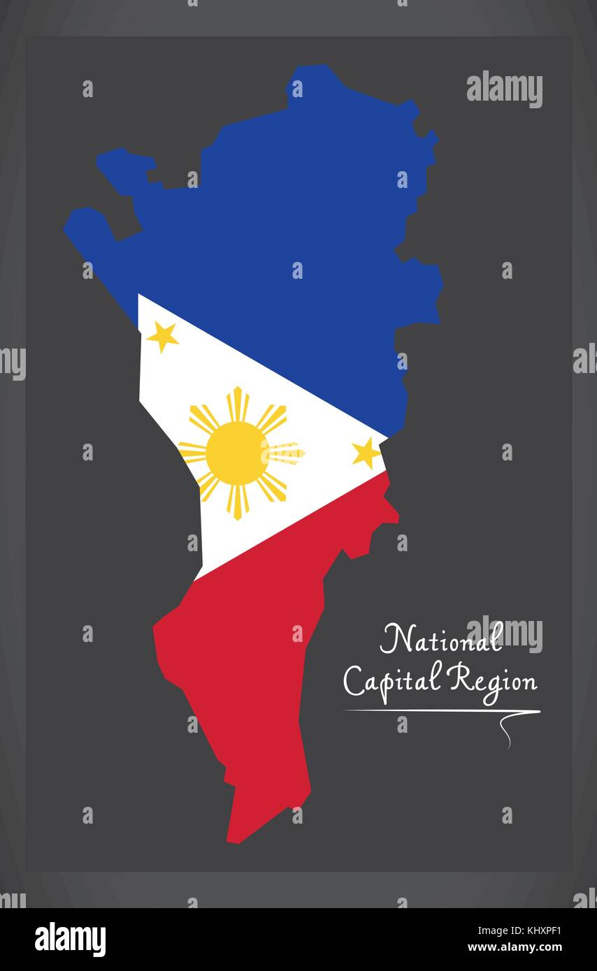 national capital region map of the philippines with philippine stock