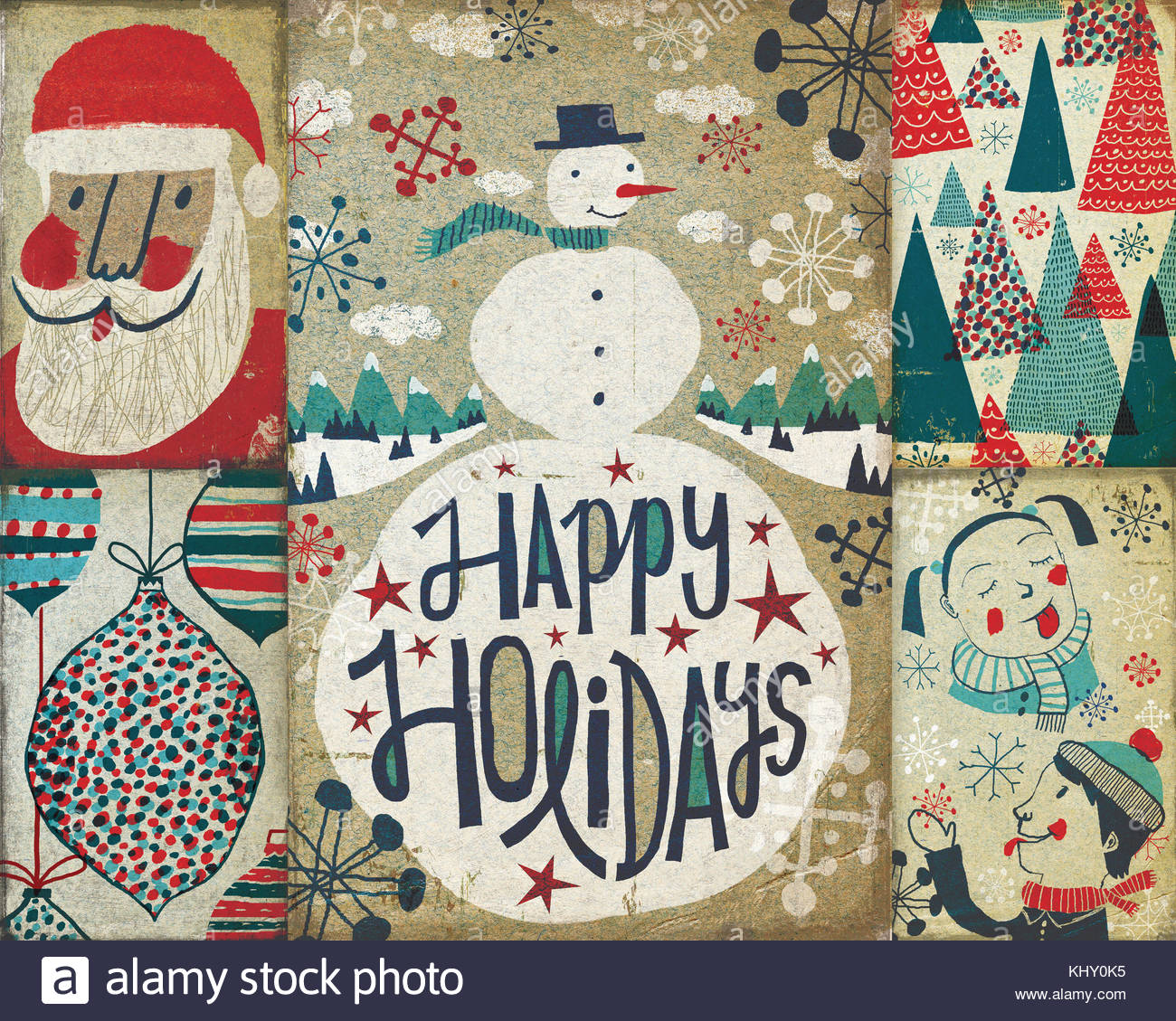 Montage of old-fashioned Christmas cards Stock Photo: 165935705 - Alamy