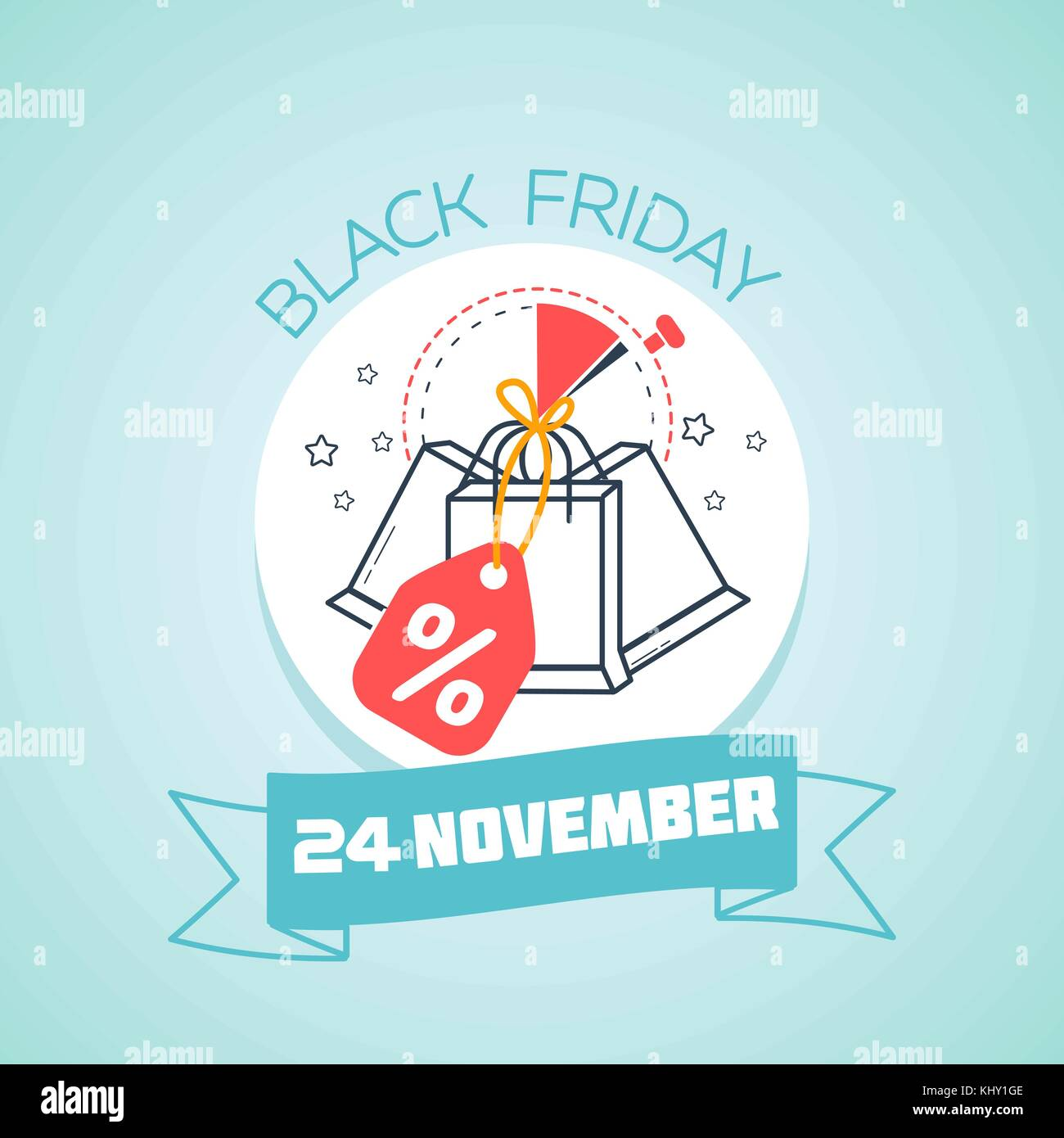 Calendar for each day on november 24 greeting card holiday black calendar for each day on november 24 greeting card holiday black friday icon in the linear style kristyandbryce Images