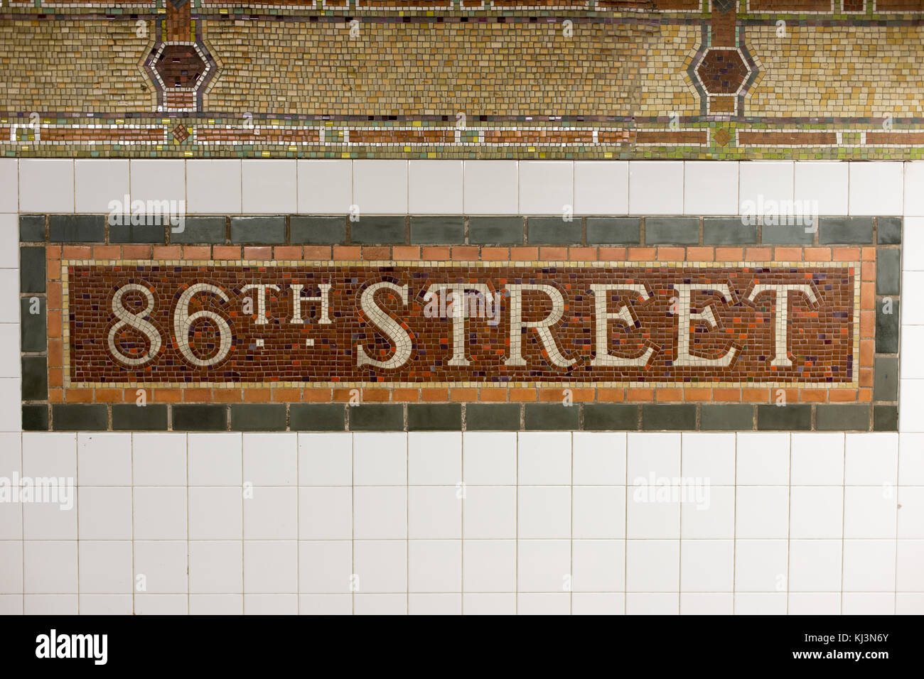 86th street subway station mosaic tile sign in new york city stock 86th street subway station mosaic tile sign in new york city dailygadgetfo Choice Image