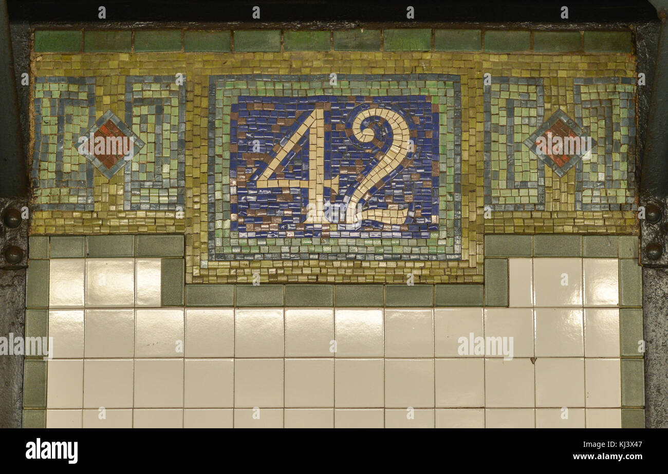 42nd street new york city subway sign tile mosaic pattern in stock 42nd street new york city subway sign tile mosaic pattern in midtown manhattan dailygadgetfo Choice Image