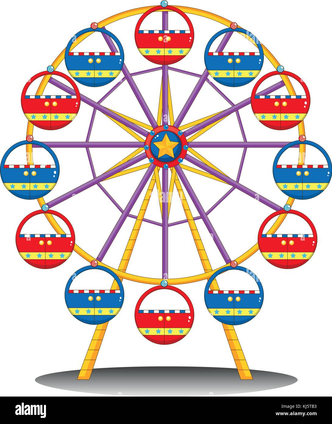 White ferris wheel stock vector images alamy illustration of a ferris wheel on a white background stock vector biocorpaavc