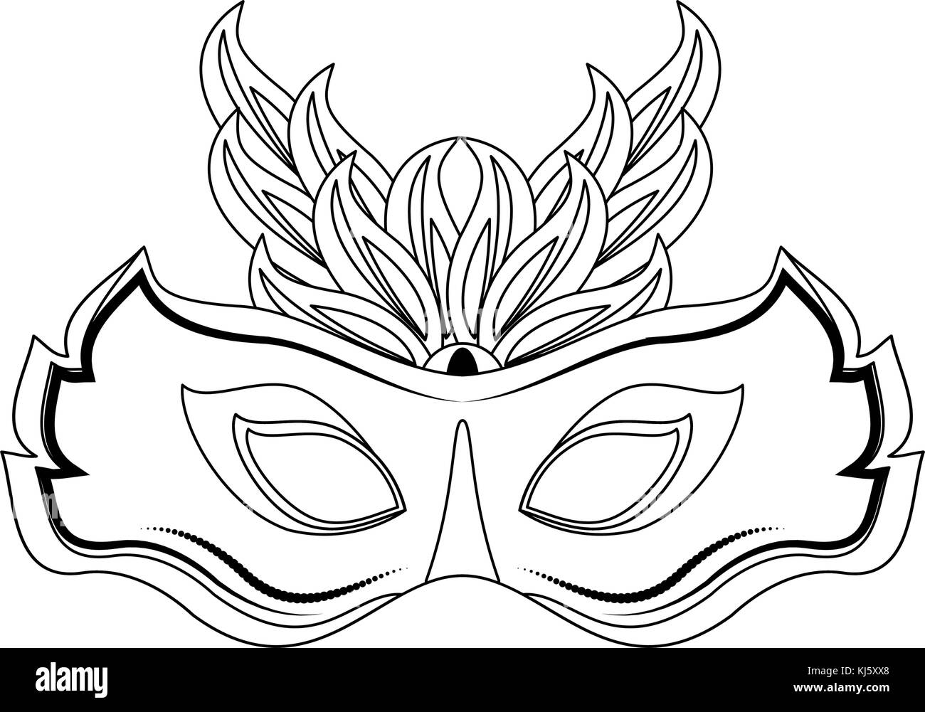 Colorful Festival Mask Feathers Vector Stock Photos  Colorful