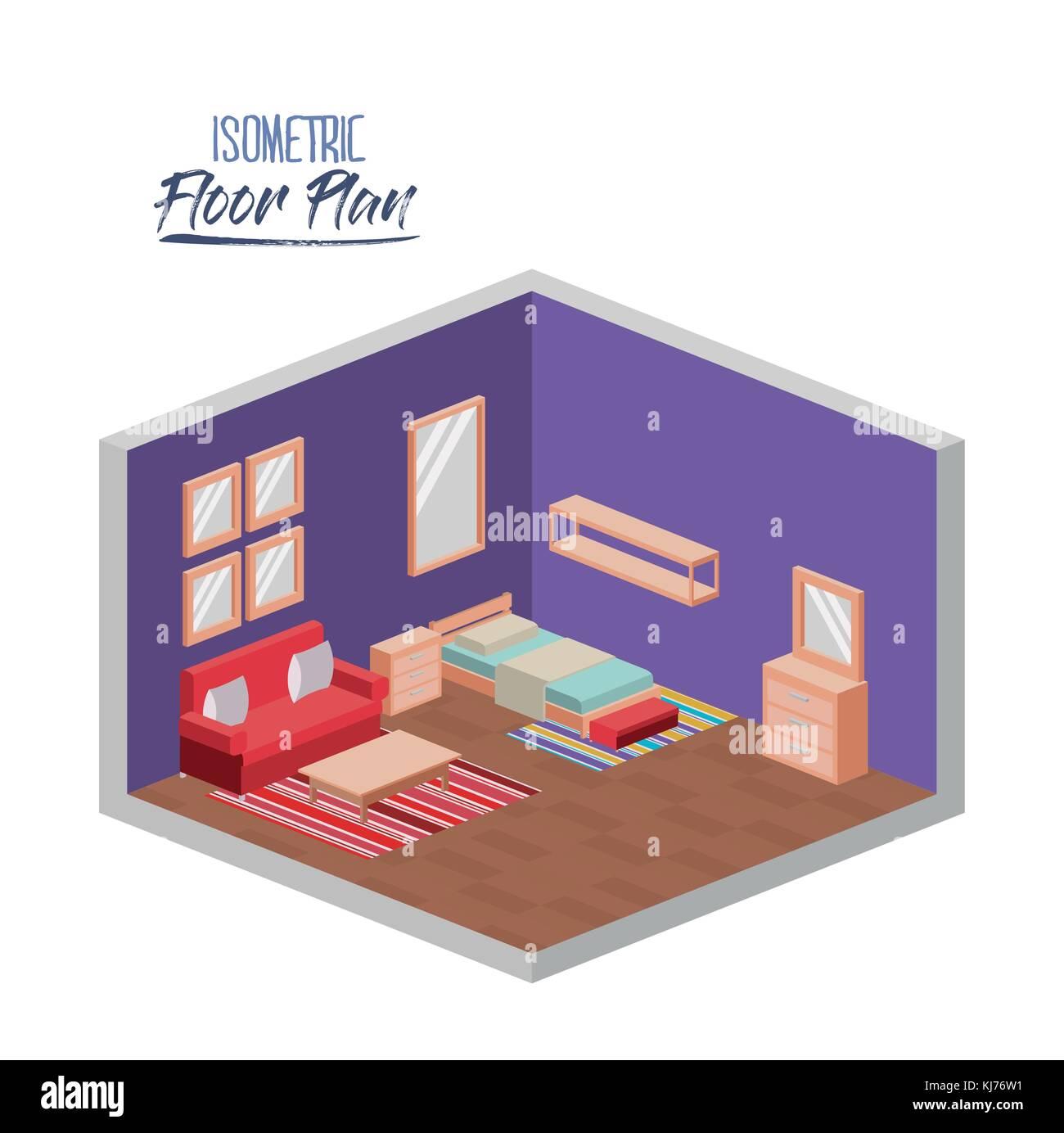 3d Floor Plan Isometric: Cutaway House Illustration Stock Photos & Cutaway House