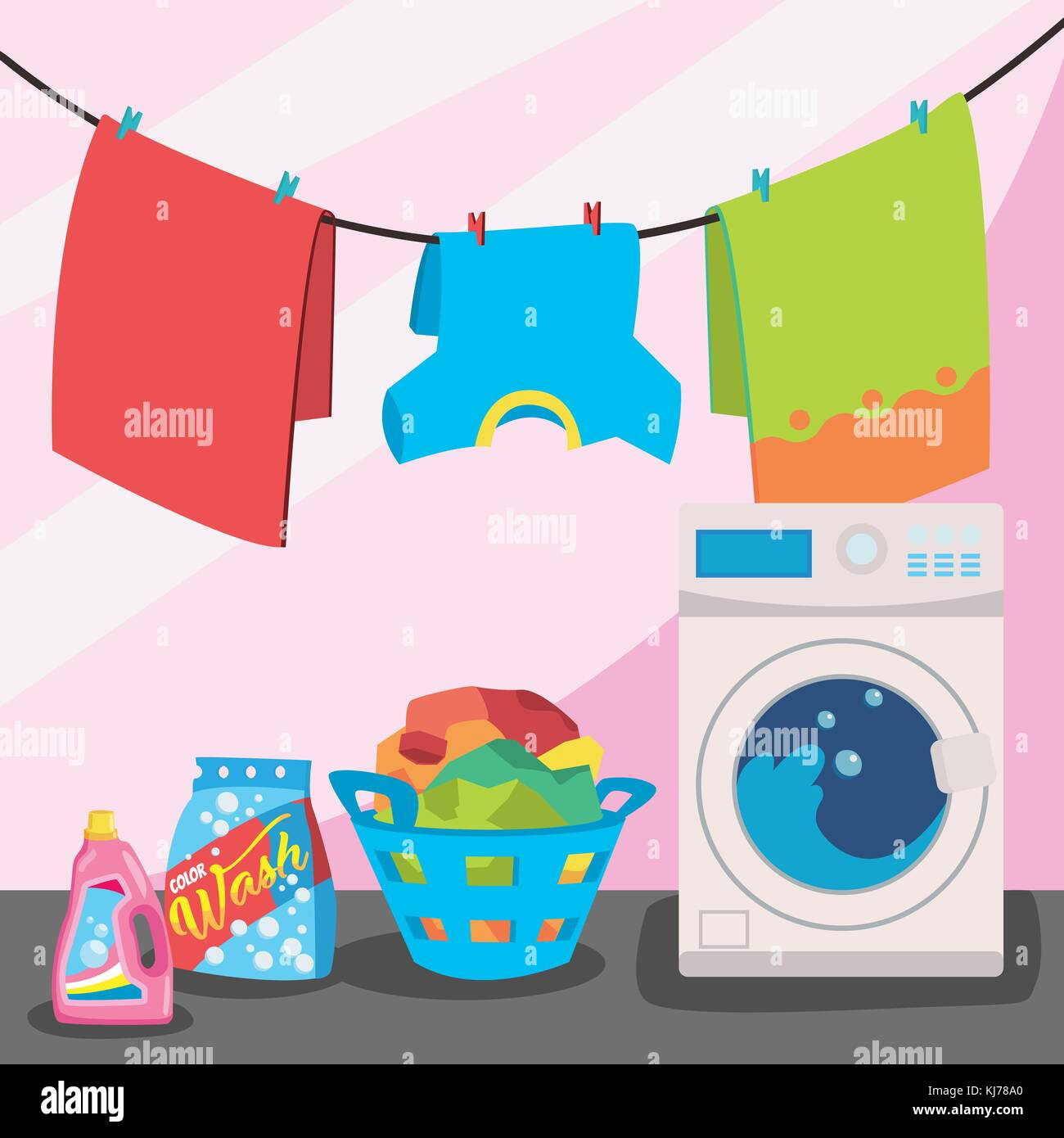 Cartoon Laundry Stock Photos Amp Cartoon Laundry Stock