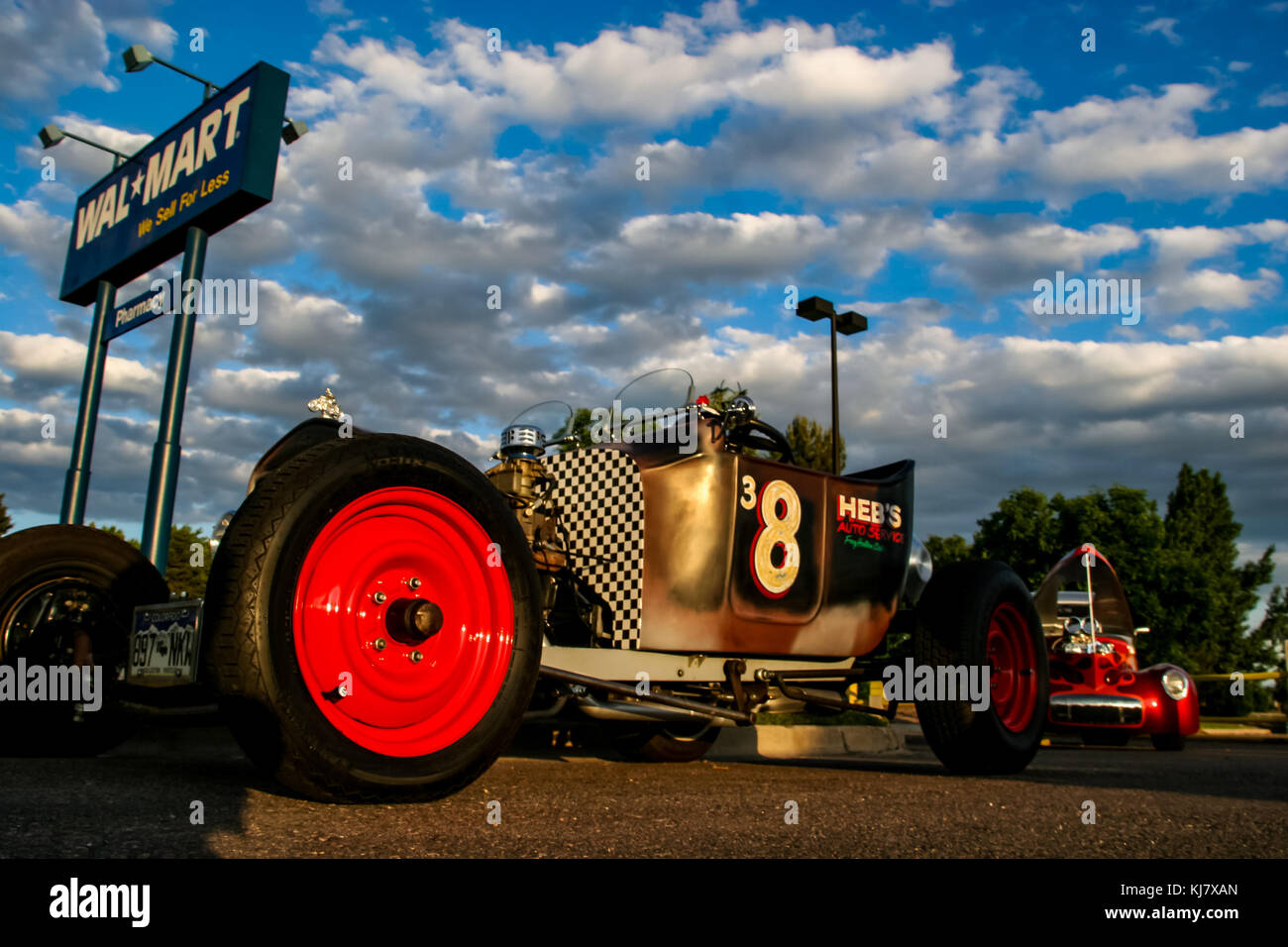 Classic car at Burger King Classic Car show in Denver Stock Photo ...