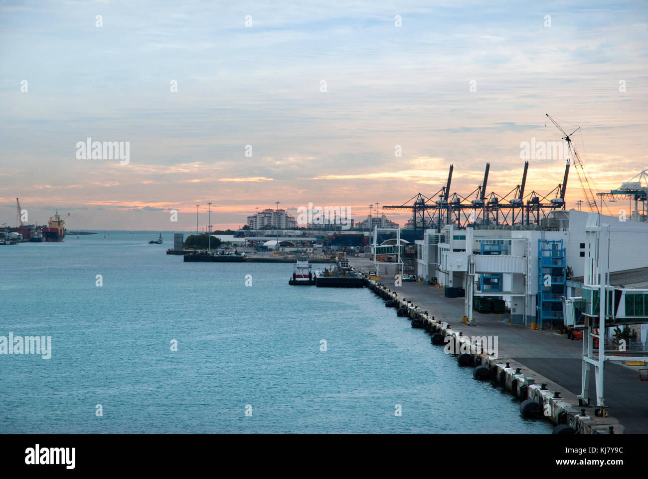 Miami Cruise Terminal Stock Photos Miami Cruise Terminal Stock - Miami cruise ship terminal