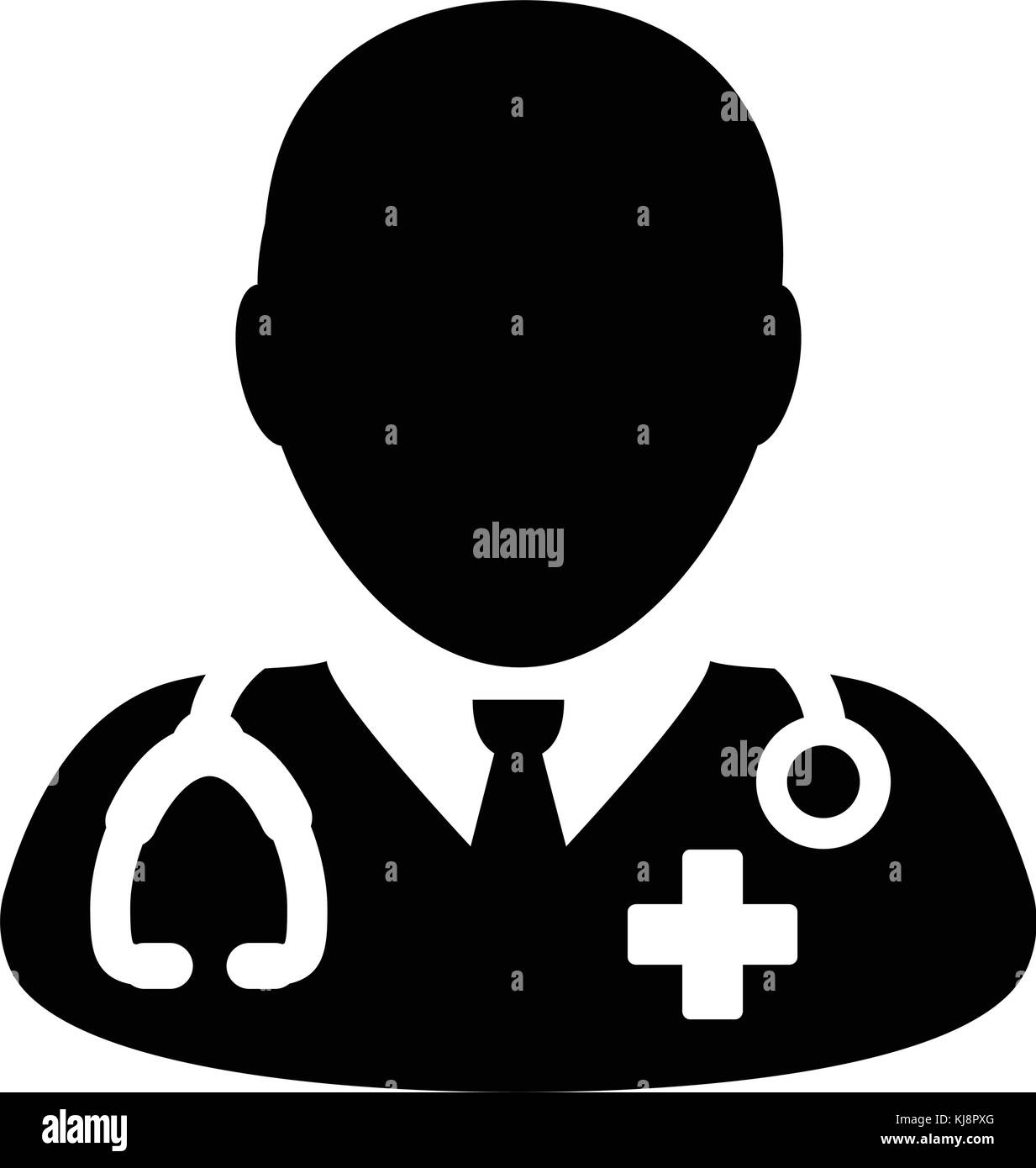 Doctor icon vector with stethoscope for medical consultation stock doctor icon vector with stethoscope for medical consultation physician profile symbol male avatar in glyph pictogram illustration buycottarizona Images