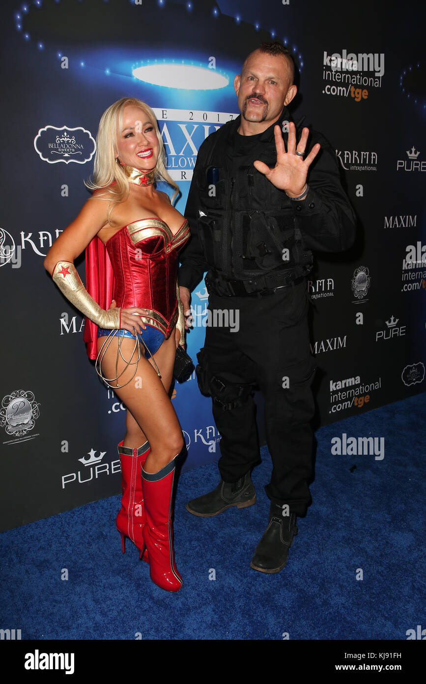 2017 maxim halloween party featuring heidi northcott chuck liddell where los angeles california united states when 21 oct 2017 credit