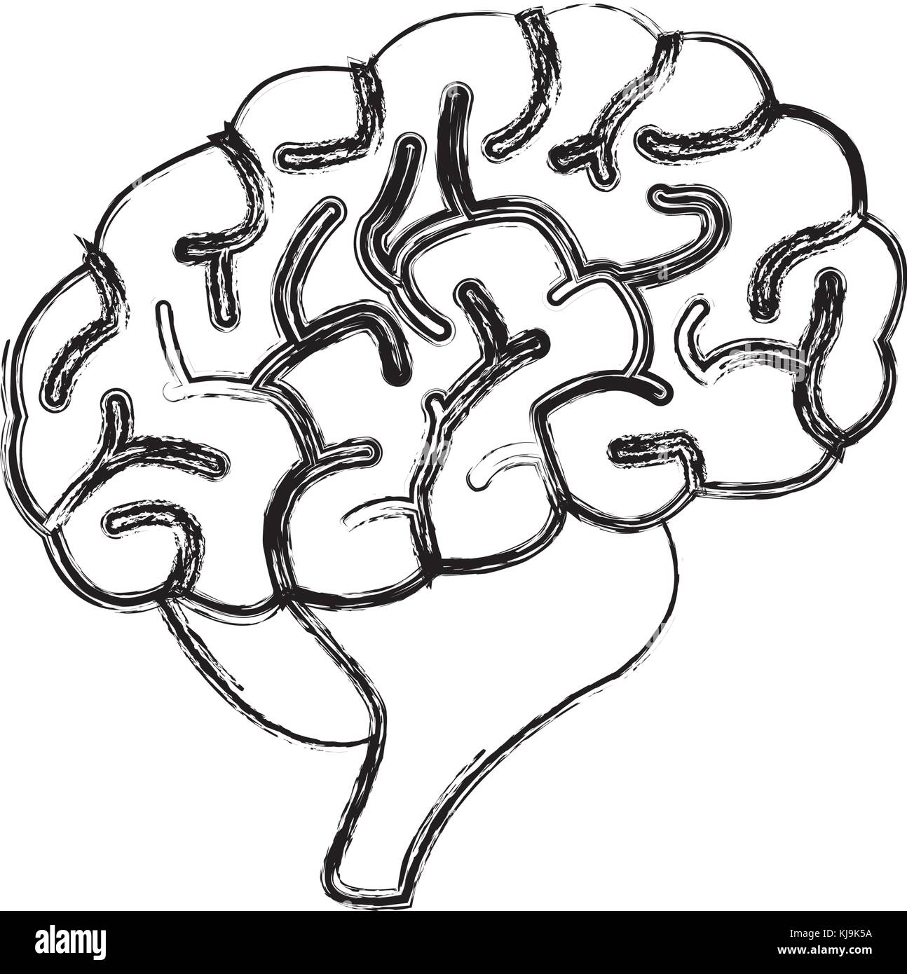 Human brain symbol stock vector art illustration vector image human brain symbol biocorpaavc Images