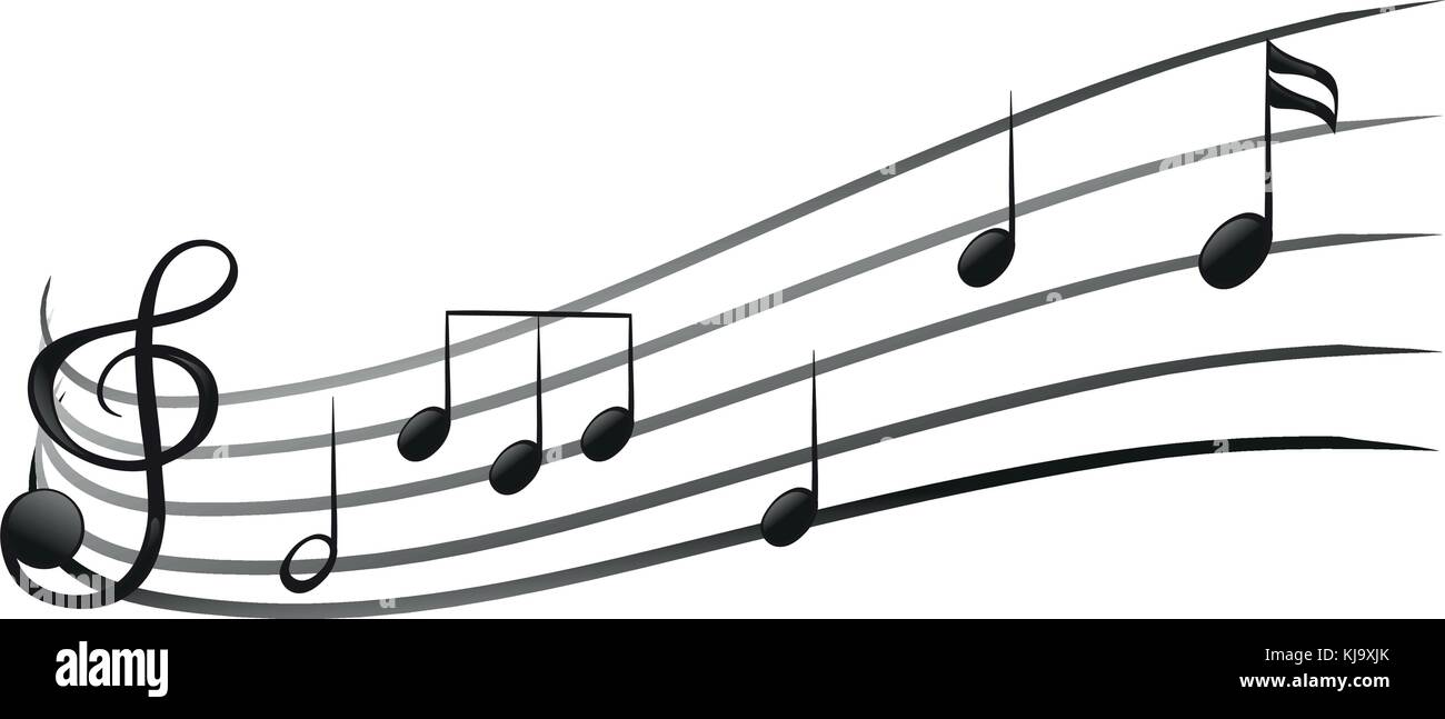 Illustration Of The Signs And Symbols Of Music On A White Background