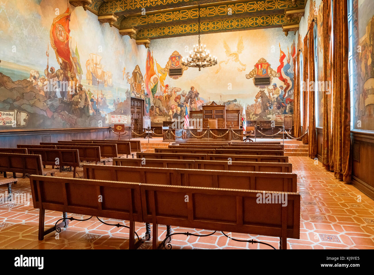 Courtroom interior stock photos courtroom interior stock for Mural room santa barbara