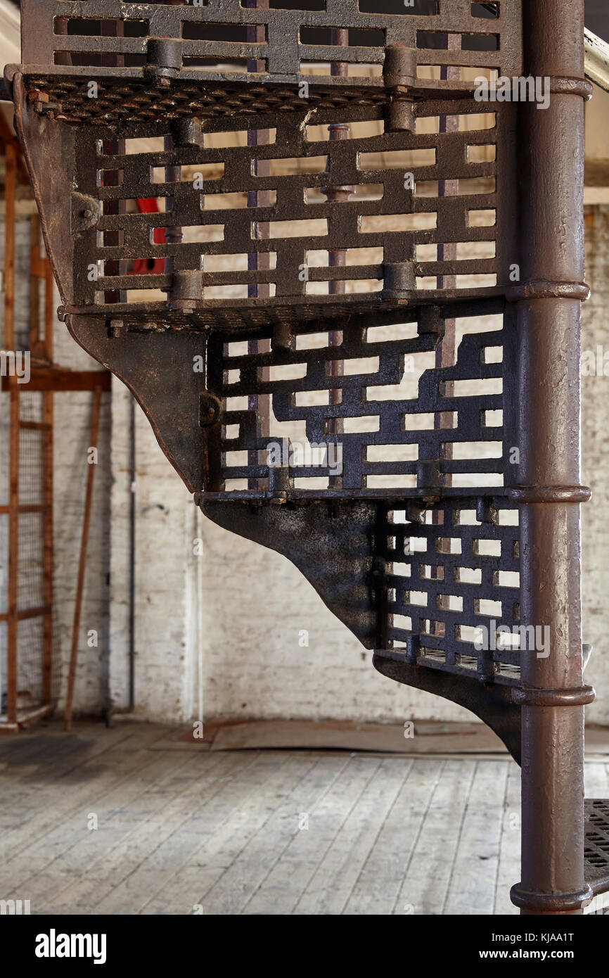Detail Of Wrought Iron Spiral Staircase. The Farmiloe Building, London,  United Kingdom
