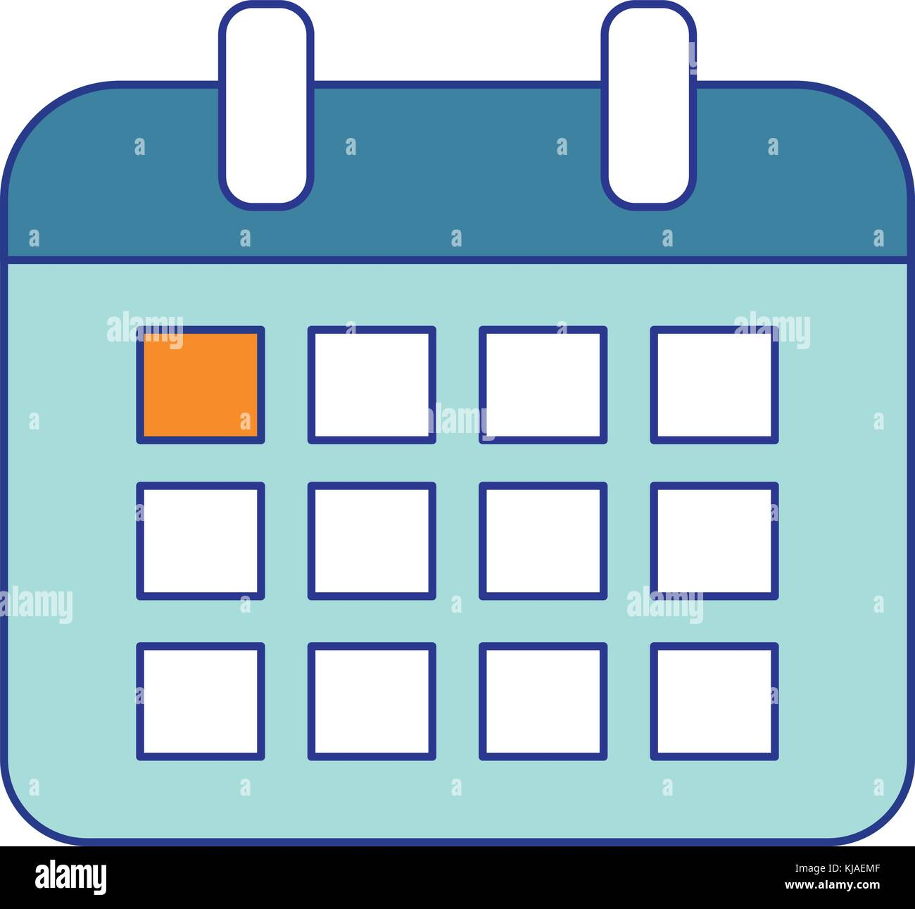calendar of planner time and event theme isolated design vector