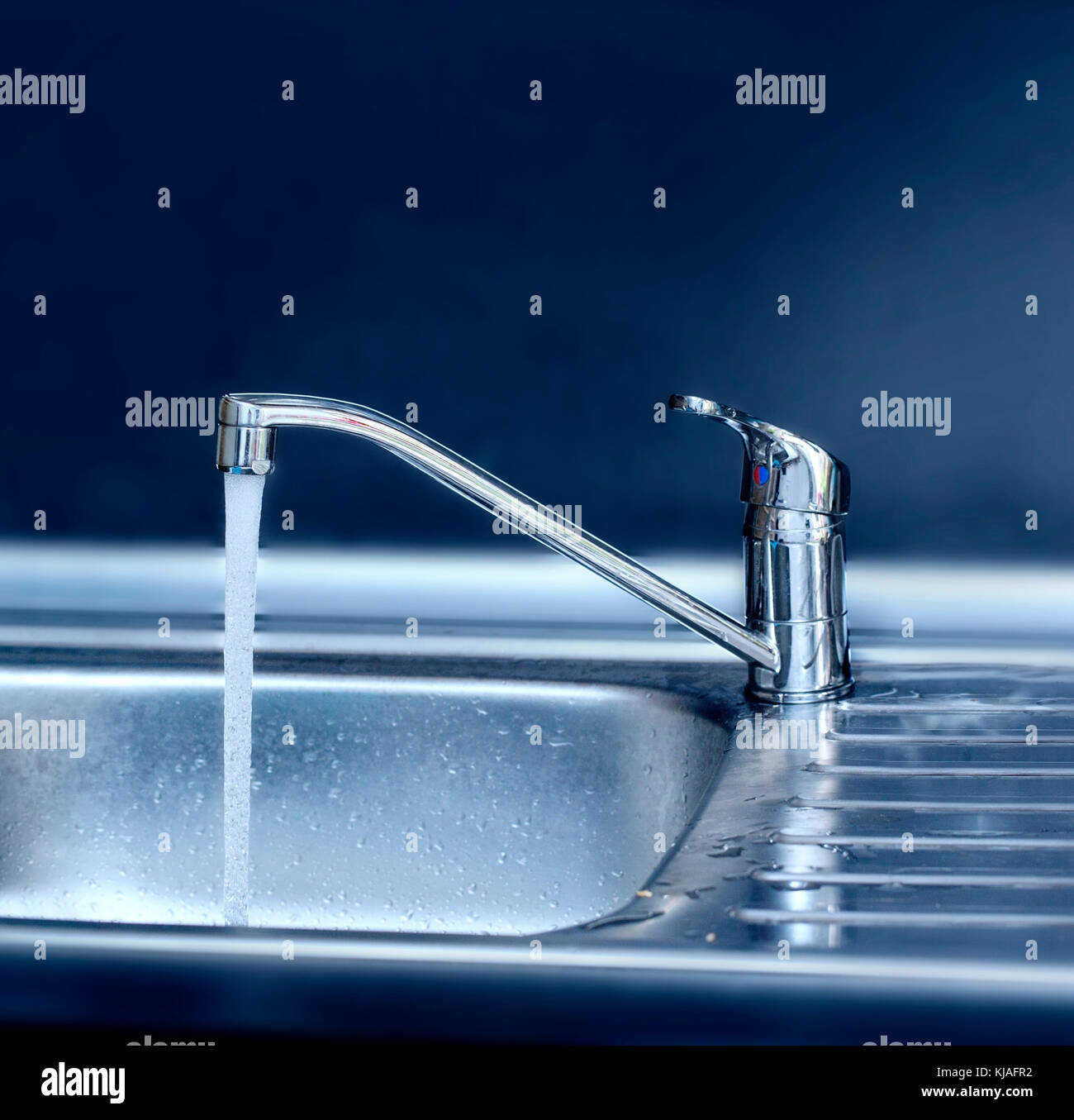 Hot Water Tap Kitchen Stock Photos & Hot Water Tap Kitchen Stock ...