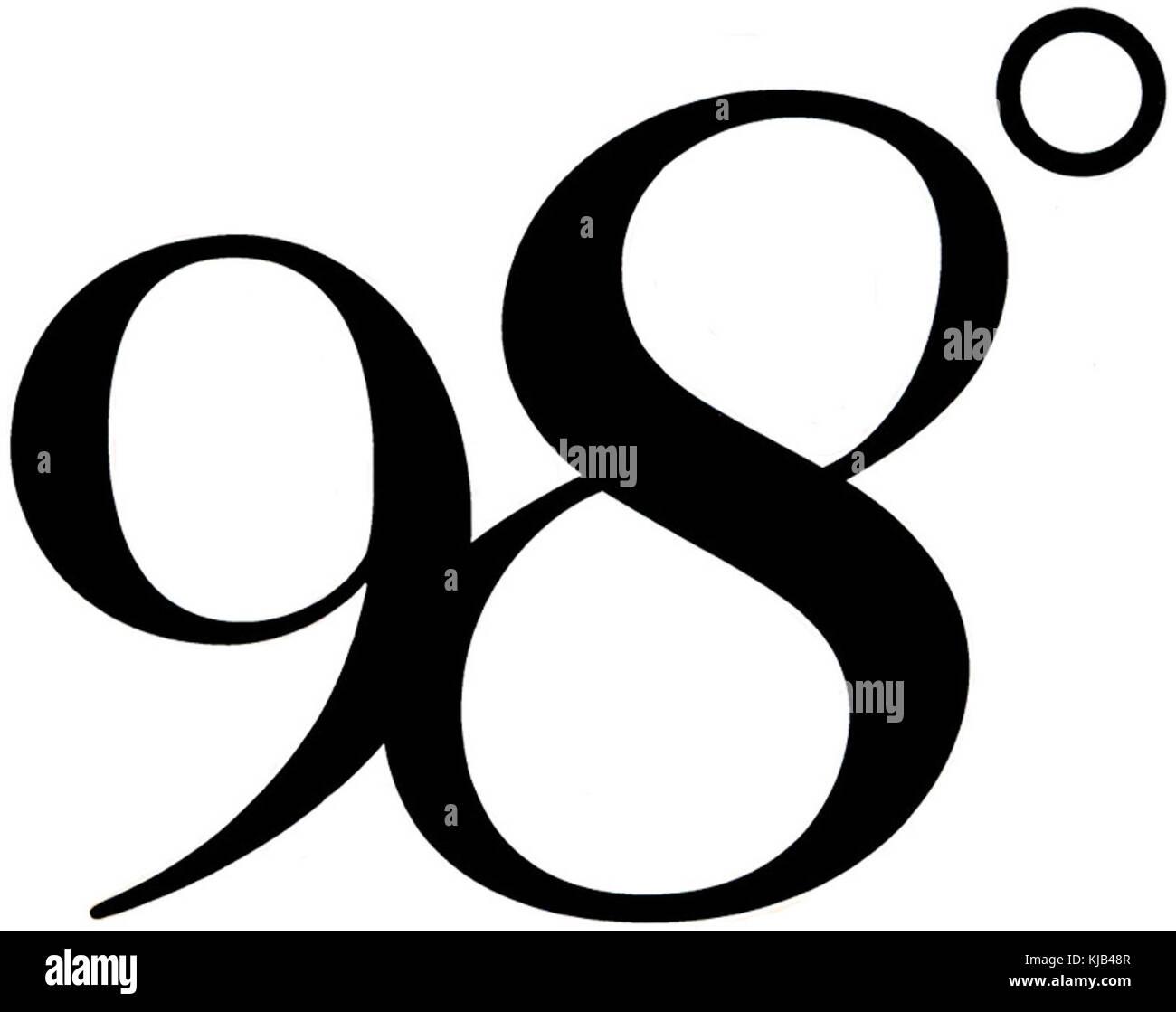 98 degrees stock photos 98 degrees stock images alamy 98 degrees logo stock image biocorpaavc Choice Image